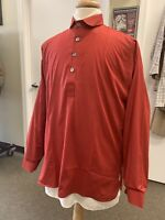 Man's RED Cotton Shirt - Civil War, SASS, 19th century, Re-enacting, Medium NEW