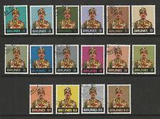 Brunei 1974 Complete set SG 218-233 Fine used.