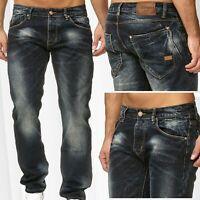 Pantalon en jean pour homme Pantalon Denim Loose Fit Used Washed Regular Waist