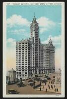 Wrigley Building, Chicago, Illinois Lot of Three Vintage Postcards by Moonlight