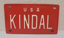 1960'S VINTAGE MINI USA KINDAL LICENSE PLATE NAME TAG SIGN BICYCLE VANITY PL8s