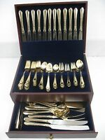 Hampton Silversmiths Flatware - Stainless Gold Electroplate EP #215 - 87 Pieces