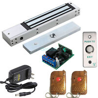 280kg Electromagnetic Lock Kit With Remote Kit Outswinging Door Access Control