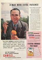 1940 President David Burpee Seed Co. photo Camel Cigarettes vintage print ad