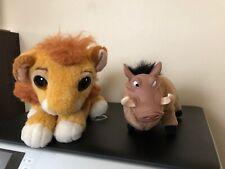 Lion King Pumbaa and Simba Plush Doll Authentic Original 1994