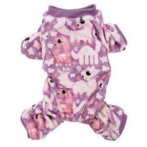 Warm Soft Fleece Dog Pajamas Jumpsuit Cute Pet Clothes Small Medium Pet XXS - L