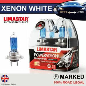 PEUGEOT Xenon White H7 55w Halogen Dipped Headlight Bulbs 6000k (PAIR)