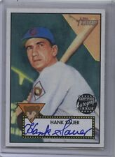 2001 Topps Heritage Certified Autograph Bobby Hank Sauer Blue Auto