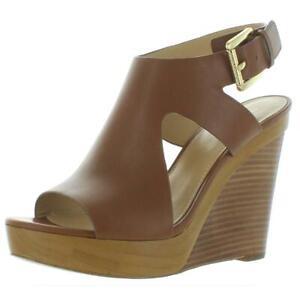 MICHAEL Michael Kors Womens Josephine Wedge Wedge Heels 8.5 Medium (B,M) 6538