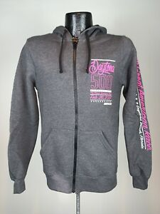 Women's Nascar Fanatics 2017 Daytona 500 Full Zip Gray Sweatshirt Hoodie M NWOT