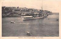POSTCARD  SHIPS   MALTA  VALLETTA   Ship  At  Anchor