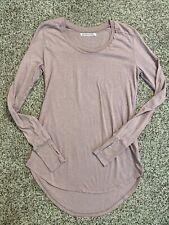 Groceries Apparel Women Dusty Rose Organic Cotton Long Sleeve T-Shirt Small USA