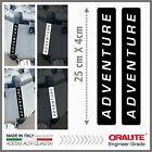 2x ADVENTURE black REFLECTIVE STICKERS BMW R1200GS KTM HONDA SUZUKI KAWASAKI