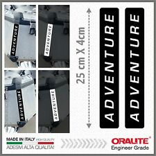 2x ADVENTURE black REFLECTIVE STICKERS BMW R1200GS KTM HONDA SUZUKI KAWASAKI