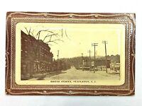 Vintage Postcard 1913 Broad Street Stapleton S.I. New York NY Embossed
