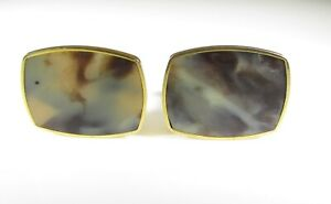 Cufflinks with Marble Stone Insert Made in Austria