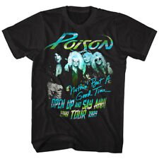 Poison Open Up & Say Ahh Album Tour 1988 Men's T Shirt Rock Band Art Music Merch