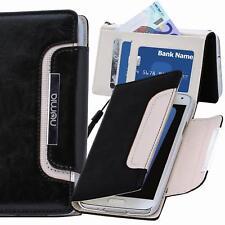 Handy Tasche Schutz hülle Case Cover für Samsung Galaxy S7 Edge Schwarz-weiss