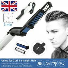 Men Quick Beard Hair Styler Comb Brush Straightener Curler Multi-functional