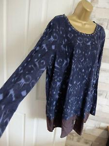 New NEXT ● size 18 ● navy blue longline blouse top womens ladies