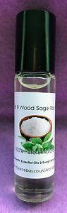 Sea Salt & Wood Sage Type Perfume Oil - 10ml roller ball - handbag size