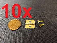 10 Pieces - gold Color Mini Butterfly Hinges Cabinet Drawer Jewelry Box DIY c11