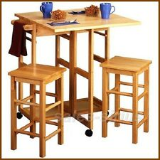 breakfast bar table set stools kitchen space saver small island dining drop leaf - Drop Leaf Kitchen Table