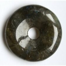 Donut Labradorite 3cm gris reflets bleus