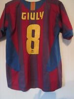 Barcelona 2005-2006 Giuly Home Football Shirt Size Medium  /43248