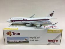 "HerpaWings Thai Airways ""The King's 72 Celebration"" 1:400 B747-400 Hs-Tgp 560412"