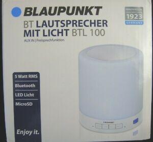 Blaupunkt Bluetooth Lautsprecher BTL 100 AUX IN Freisprechfunktion 5 Watt LED .M