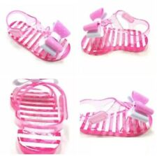 wonder Nation Toddler Girls Sparkle Double Bow Jelly Sandals Sizes 8,9,10
