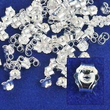 925 Silber Silber, Ohrmutter, Verschluss f. Ohrstecker, Butterfly, 4Stk.