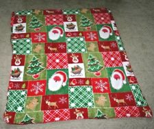 Fluffy Soft Multi Colored Christmas Holiday Themed Kids Or Pet Throw Blanket