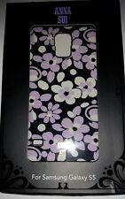 NEW Anna Sui Samsung Galaxy S5 Case Black / Purple / White Floral, CO8905U