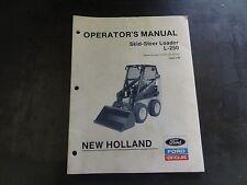 New Holland Ford L 250 Skid Steer Loader Operators Manual