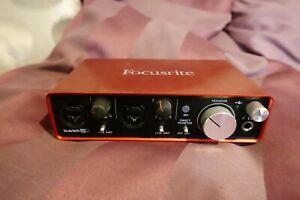 FOCUSRITE SCARLETT 2i2 USB AUDIO INTERFACE, 2nd gen., very good condition