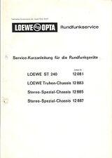 Loewe original Service calco subyacente para St 240/12883/12885/12887