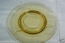 Vintage Depression Glass yellow saucer