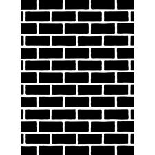 Darice Embossing Folder BRICK WALL Bricks CHIMNEY New! Card Making A2 1218-108