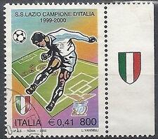 2000 ITALIA USATO LAZIO CAMPIONE D'ITALIA DI CALCIO APPENDICE SCUDETTO A DESTRA