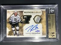 2017-18 The Cup Tanner Pearson Honorable Numbers /70 BGS 9.5 10 Auto