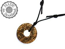 BROWN COCONUT WOOD PENDANT CHARM SURFER NECKLACE TRIBAL COCO SHELL MEN CHOKER