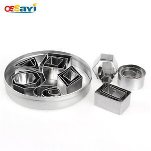 24pcs/set Cookie Cutter Geometric Shapes Stainless Steel Cake Mold Cookie Mould