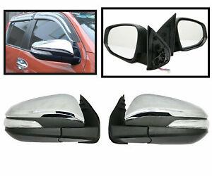 For Toyota Hilux Revo Pickup 15-19 Chrome Car Door Side Mirror W Turn Signal