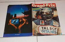 GRAND PRIX MONACO Montecarlo TALBOT GITANES 1981 Ligier Depliant Laffite Cheever