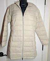Essentials Women's Lightweight Full-Zip Packable Puffer Coat Jacket Ivory Size S