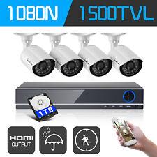 IHG 720P 8CH HDMI DVR CCTV Surveillance Camera System Outdoor W/ 1TB Hard Drive