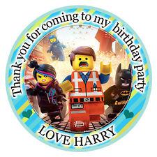 Personalizzato Lego Movie Rotondo 50mm Adesivi Festa Ringraziamenti Sigilli