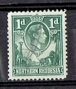 Northern Rhodesia 1938 KGVI. 1d SG# 28 - Used